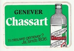 Autocollant Sticker Genever CHASSART  'n Nieuwe Genever? Ja, Sinds 1836 Jonge Genever Genièvre Cuvée Jeune - Autocollants