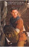 Postcard - TV - Supernatural - Dean Dressed As A Warrior With Sheild - New - Postcards