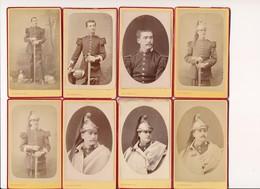 LOT 8  PHOTOS PHOTO ORIGINALE EN CDV 10 E Régiment De Dragons Dragon Ou Cuirassier ? Militaire Montauban Dufour à Dijon - Photos