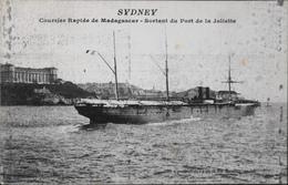 """CPA.- """" Le SYDNEY """" Courrier Rapide De Madagascar Sortant Du Port De La Joliette - BE - Steamers"""