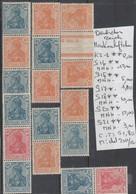 TIMBRES D ALLEMAGNE COMPOSEES NEUF**/*  1933/45 Nr VOIR SUR PAPIER AVEC TIMBRES  COTE 51.8 € - Allemagne