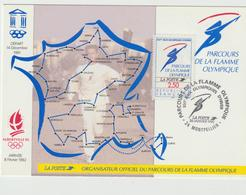Carte-Maximum FRANCE N° Yvert 2732 (FLAMME OLYMPIQUE) Obl Sp Ill Parcours Montpellier (Ed La Poste) - Cartes-Maximum