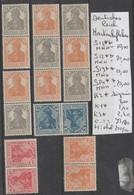 TIMBRES D ALLEMAGNE COMPOSEES NEUF**/*  1933/45 Nr VOIR SUR PAPIER AVEC TIMBRES  COTE 71.8 € - Allemagne