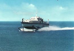 """3432 """"ALISCAFO FRECCIA AZZURRA PER LE ISOLE EGADI-TRAPANI """" ANIMATA  CART. POST. ORIG. SPED.1964 - Barche"""