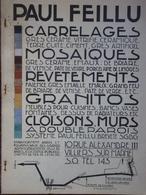 Paul Feillu, Carrelages-Mosaïques à Villiers-sur-Marne, Publicité - Non Classés