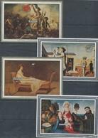 RWANDA.NEUFS   BLOC FEUILLET 93 à 96 De 1982. Tableaux De David, Van Der Goes, Delacroix, Delvaux Sheet Painting - Rwanda