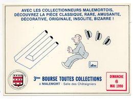 CPSM   19     MALEMORT       3ème BOURSE TOUTES COLLECTIONS    1990 - Collector Fairs & Bourses