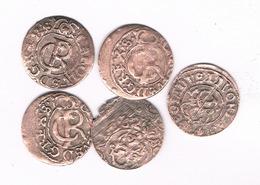 5 X SCHILLING 1660-1665 LIVONIA  LETLAND/3843/ - Lettonie