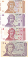 Billets Croatie P16, 17, 18, 19, 20, 22, 23 Neuf - Croatia