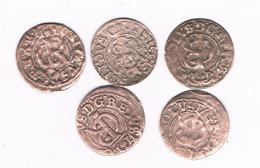 5 X SCHILLING 1660-1665 LIVONIA  LETLAND/3846/ - Latvia