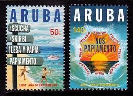 PAIRE NEUVE D'ARUBA - ANNEE DU PAPIAMENTO N° Y&T 188/189 - Languages