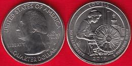"USA Quarter (1/4 Dollar) 2019 P Mint ""Lowell, Massachusetts"" UNC - Federal Issues"