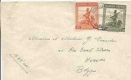 Lettre (mention Manuscrite AVION) D'USUMBURA Vers HERSTAL - 16/11/1946 Numéro(s): 140 - 141 - Ruanda-Urundi