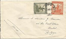Lettre (mention Manuscrite AVION) D'USUMBURA Vers HERSTAL - 09/09/1946 Numéro(s): 140 (avec Bord De Feuille) - 141 - Ruanda-Urundi