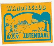 Autocollant Sticker Wandelclub W.S.V. Zutendaal - Club De Marche - Aufkleber