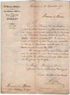 VP14.910 - MILITARIA - MONTAUBAN 1850 - Lettre Du Sous Intendant Militaire à Mr Le Maire De VALENCE D'AGEN - Documents