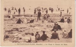 R: Manche : COUTAINVILLE  :  Vue  La  Plage   à L '  Heure  Du  Bain - France