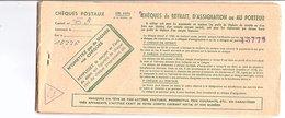 CARNET DE CHEQUES DE RETRAIT DES CHEQUES POSTAUX - Vieux Papiers