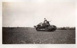 L - PHOTO ORIGINALE FORMAT 11.3 X 7 - MILITAIRE - TANK - CHAR D'ASSAUT - Guerre, Militaire
