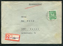 All.Besetzung / 1947 / Mi. 936 EF A. Reco-Brief Ex NEHEIM, Not-R-Zettel (13038) - Gemeinschaftsausgaben