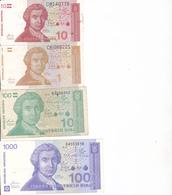 Billets Croatie P16, 20 Sup, 22 Neuf - Croatie