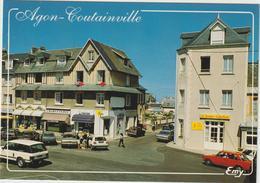 R: Manche : COUTAINVILLE  :  Vue  Place  Du  G. De Gaulle - France