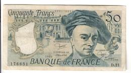 Francia France 50 Francs QUENTIN DE LA TOUR 1980 Lotto.1151 - 1962-1997 ''Francs''