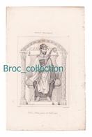 Saint Avitus, Avit, Patron De Volvic, France, Mérovingiens, Gravure D'Augustin François Lemaître, Vernier, N° 148 - Devotion Images