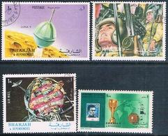 Sharjah 1970 - 72  -  Michel  645 + 987 + 988 + 1003  ( Usados ) - Sharjah