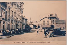 R: Manche : COUTAINVILLE  :  Vue  PHOTO  Pas  Une  Carte  , Rue  Amiral Magnet , Voiture - France