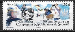 France 2014 N° 4922 Neuf CRS à La Faciale - France