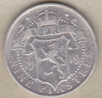Cyprus 9 Piastres 1919 , George V , En Argent . KM# 13 - Chypre