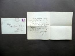 Autografo Giovanni Serra Lettera Torrile S. Polo 1936 Alfonso XIII Glottologia - Autografi