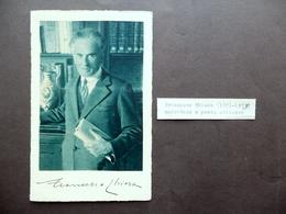 Autografo Francesco Chiesa Fotocartolina Sagno Svizzera Letteratura Primo '900 - Autografi