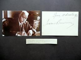 Autografo Ivanoe Bonomi Cartoncino Roma 1946 Socialismo Presidente Del Consiglio - Autografi