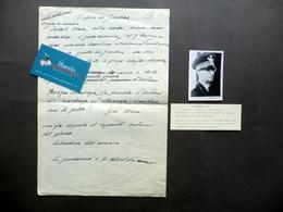 Autografo Guglielmo Nasi Generale Difesa Di Gondar Appunti Minuta Inedito WW2 - Autografi