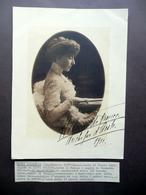 Autografo Elena D'Orleans Duchessa D'Aosta Grande Fotografia 1911 Reali - Autografi