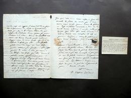Autografo Celestino Cavedoni Lettera Modena 1822 Levizzano Ghisellini Archeologo - Autografi