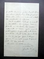 Autografo Giulio Porro Lambertenghi Lettera Milano Palazzo Marino 21/1/1883 - Autografi