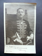 Fotografia Autografa Diplomatico 26/2/1924 Uniforme Foto Bolognesi E Orsini - Foto