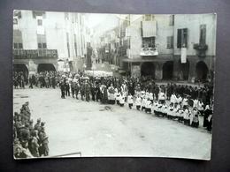 Racconigi Processione Grande Fotografia Foto A. Ghigo Folklore Militari Anni '40 - Foto
