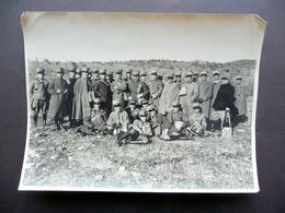 Fotografia Grande Guerra 1915-18 WW1 Militari In Uniforme Divisa Ufficiali - Foto