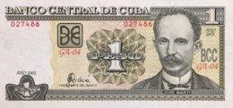 Cuba 1 Peso, P-121a (2001) - UNC - Cuba