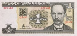 Cuba 1 Peso, P-121a (2001) - UNC - Kuba