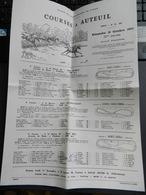 2.3) COURSES A AUTEUIL SOCIETE DES STEEPLE CHASES DE FRANCE 1971 - Equitation