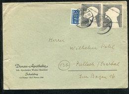 Bundesrepublik Deutschland / 1953 / Mi. 165 MeF A. Brief Steg-Stempel Schalding (13082) - BRD