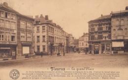 Fleurus La Grand'Place Circulée En 1911 - Fleurus
