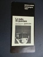 2.3) BRIONVEGA LA RADIO DA GUARDARE CAMPAGNA 1967 CARTONCINO PUBBLICITARIO - Pubblicitari