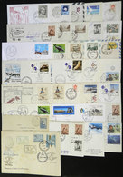 ARGENTINE ANTARCTICA: 34 Covers With Marks Of Varied Antarctic Stations, Special Flights, Antarctic Campaigns, Etc., Sev - Stamps