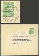 """CHILEAN ANTARCTICA: Cover Sent To Santiago On 6/FE/1948, Cancelled """"TERRITORIO ANTÁRTICO CHILENO"""", VF Quality!"""" - Stamps"""